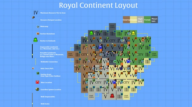 Albion Online continent royal disposition