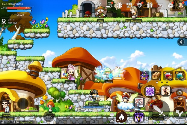 maplestory m  pour mobile beta version