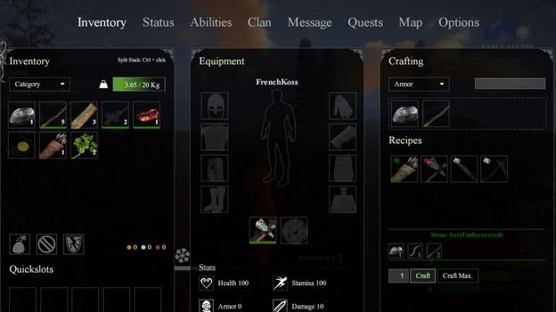 MMORPG valnir-rok inventaire