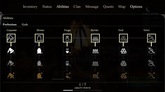 MMORPG valnir-rok professions