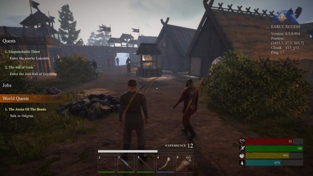 MMORPG valnir-rok village